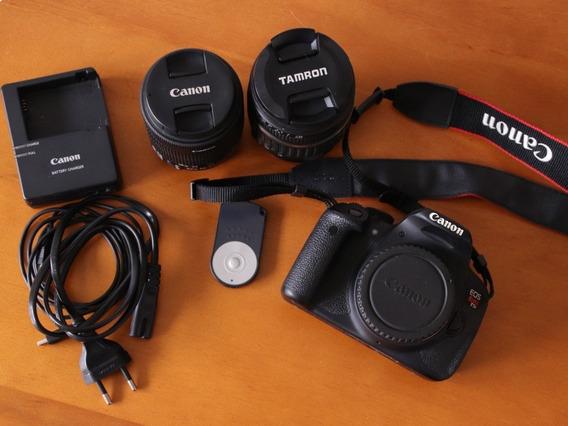 Câmera Canon Eos Rebel T5i + Lentes 18-55 + Tamron 18-200 Mm