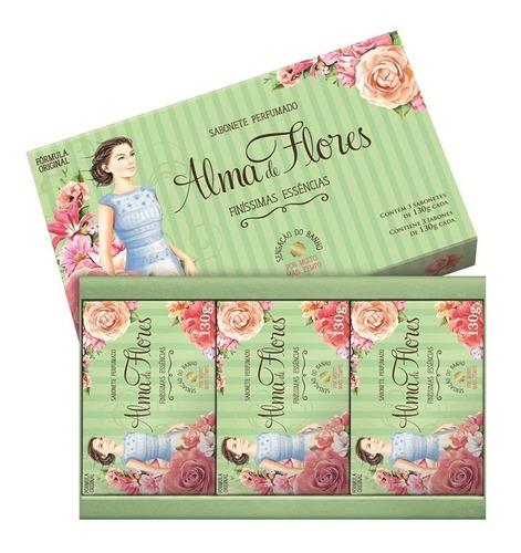 Imagem 1 de 1 de Sabonete Alma De Flores 130 Gr Cada Finíssimas Essências