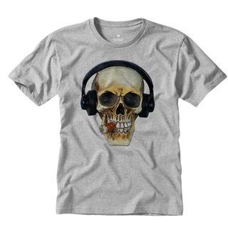 Camiseta Estampada Caveira Fone Dj Música Rock