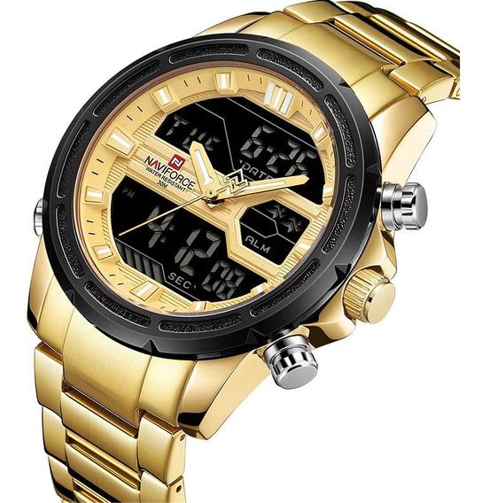 Relógio Naviforce Masculino Digital Esportivo Original 9138s