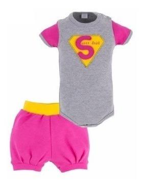 Conjunto Super Bebê Body E Short Tamanho M