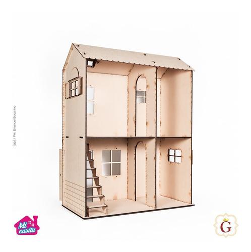 Casa Casita Para Muñecas Barbie En Fibro Fácil Sin Muebles