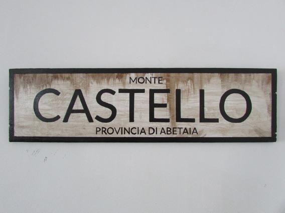 Placa Decorativa Segunda Guerra Monte Castello Feb Militar