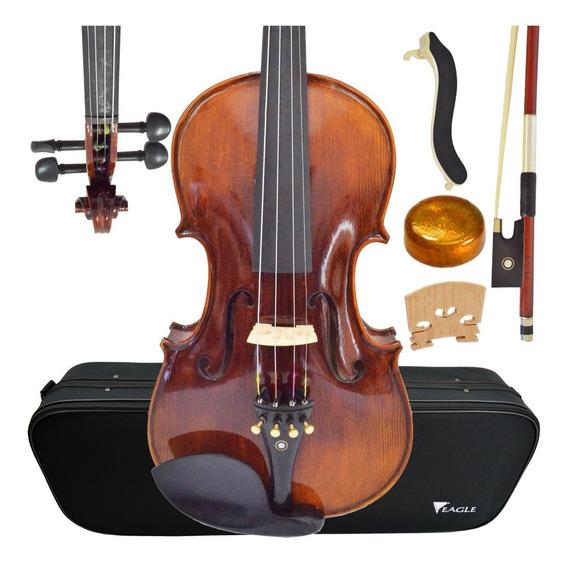 Kit Violino Eagle Profissional Vk544 4/4 Com Estante