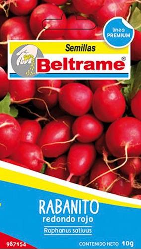 Semillas De Rabanito Redondo Rojo  Beltrame 10g Huerta