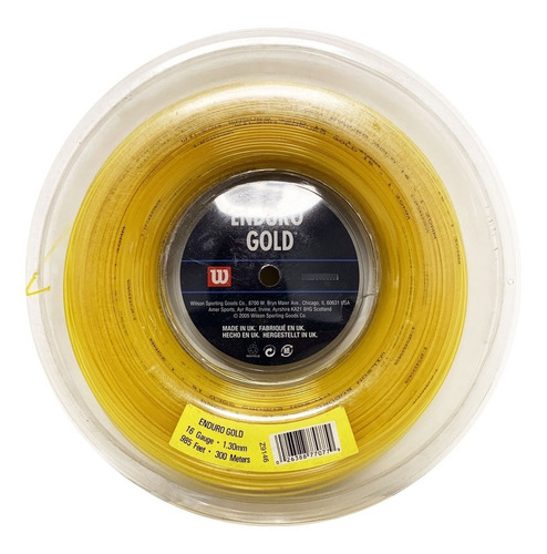 Imagen 1 de 1 de Rollo Cuerda 300mts Wilson Enduro Gold 1.30 Tenis Importada
