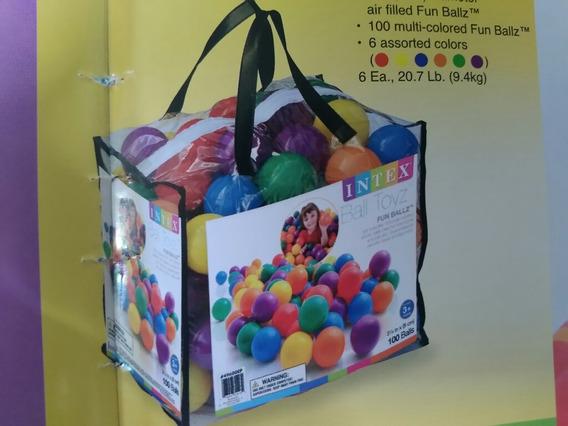 Bolsa Pelotas 100 Uni Colores Niños Cod 49600. 23071518