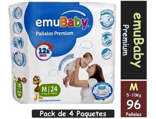 Pañal Emubaby Premium Talla M Pack X 4 Paquetes