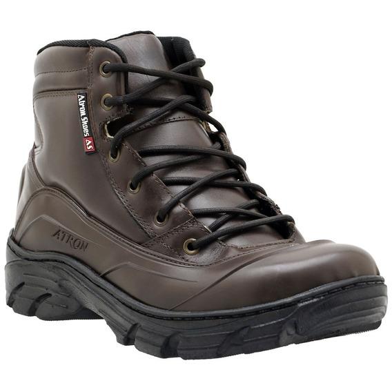 Bota Coturno Atron Shoes Militar Segurança 286 Couro