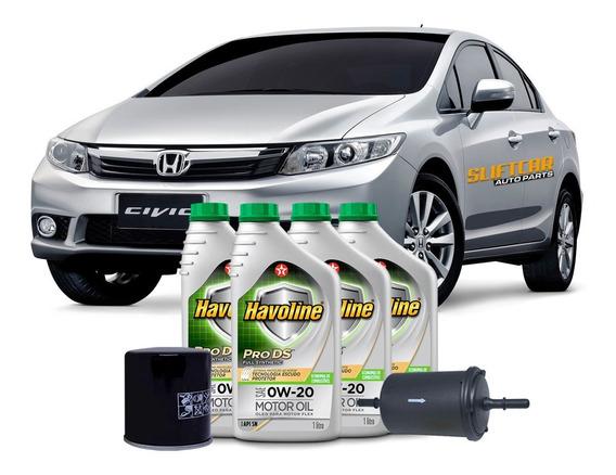 Troca De Óleo E Filtros Honda Civic 1.8 Exs / Lxl / Lxs