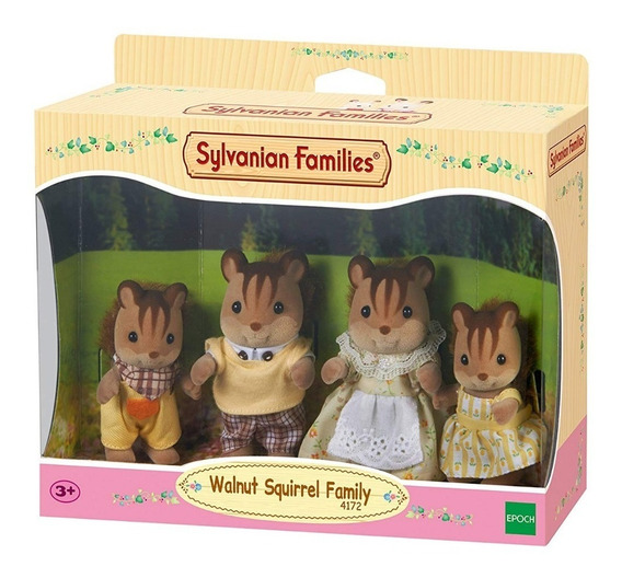 Boneco Brinquedo Família Dos Esquilos Noz