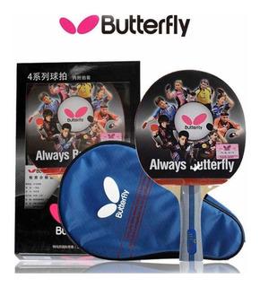 Raqueta Pin Pon Butterfly Con Forro Ltbc401 Kt 45