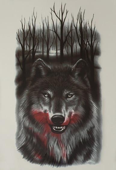 Tatuagem Temporaria - Perfeita - Realista Lobo