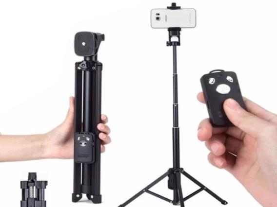 Tripe Camera Profissional 1.3 Metros C/ Controle Bluetooth