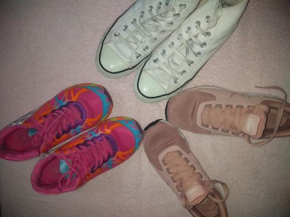 Lote De Zapatillas Mujer 37 Nike, Gaelle, Converse All Star