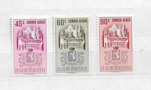 Imagen 1 de 1 de Estampillas Escudos De Venezuela 1952. Caracas 45y90mnh