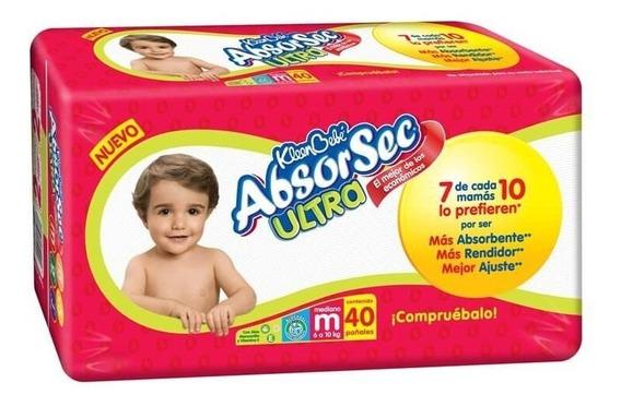 Kleenbebé Absorsec Pañal Mediano Paquete De 40 Pz