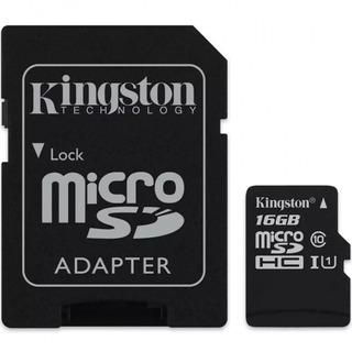 Cartão Micro Sd 16gb Kingston C/ Adaptador Original Lacrado