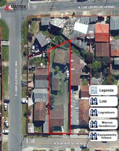Terreno À Venda, 660 M² Por R$ 450.000,00 - Novo Mundo - Curitiba/pr - Te1030