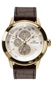 Relógio Masculino Technos De Couro 6p57ac/2c