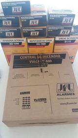 Kit Central De Incêndio Vulcano Com Periféricos