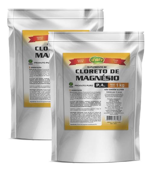 Cloreto De Magnésio Pa 2 X 1kg Original - Unilife
