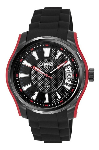 Reloj Branzi Orologi Acero Inoxidable By Citizen Black Red