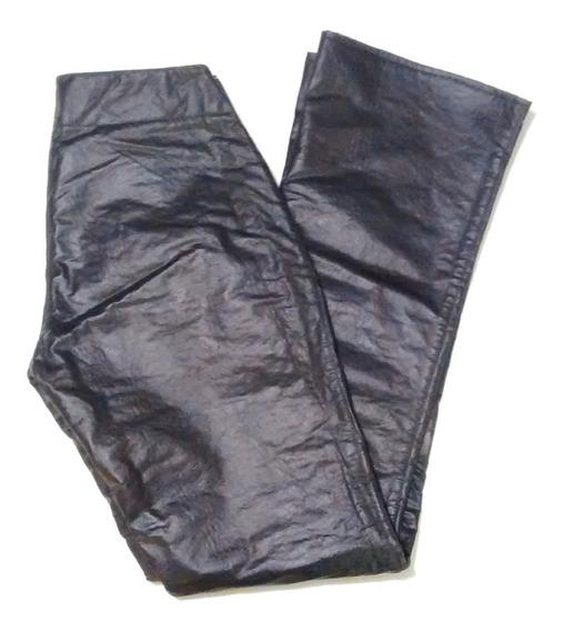 Pantalon Negro Cuero Ecologico - Mujer