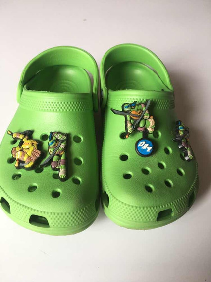 Crocs Tartaruga Ninja Número 10 11 Bra 26 Com 4 Broche