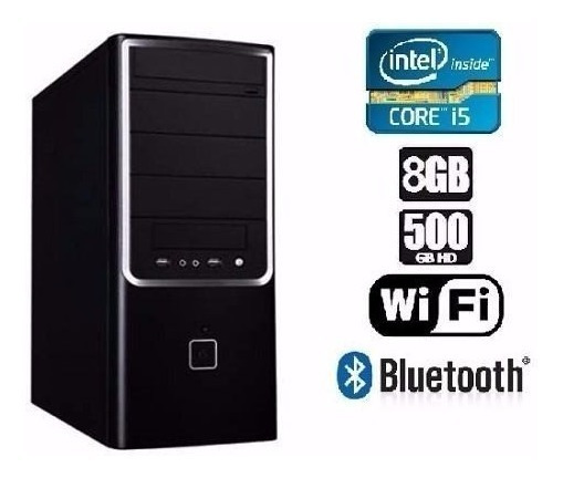 Cpu Gamer I5 3ª G+1155 H61+500hd+8gb+fonte 500 + Tec+mouse