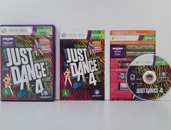 Just Dance 4 Xbox 360 Midia Física Completo Original