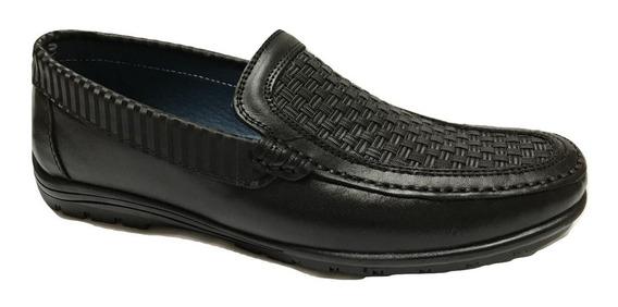 Zapato Casual 926 Choclo Hombre Piel Negro