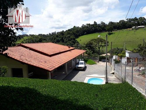 Chácara Com 03 Dormitórios À Venda, 1600 M² Por R$ 380.000 - Zona Rural - Pinhalzinho/sp - Ch0132