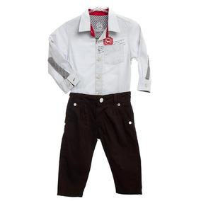 Conjunto Bebê Masculino Camisa E Calça