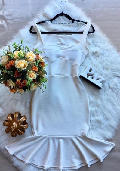 Vestido Midi Tubinho Sereia Decote Pin Up Com Bojo