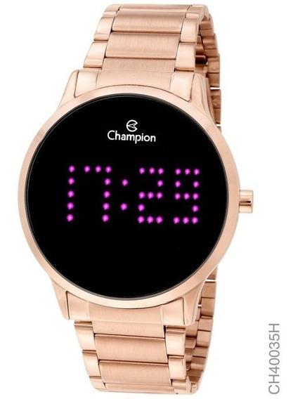 Relógio Champion Feminino Digital Rosé Escreve O Nome