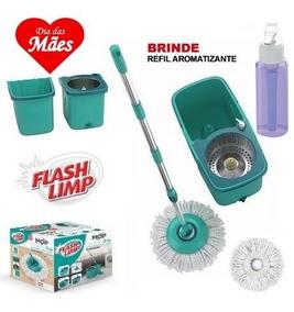 Mop Giratorio Pro Inox Com 2 Refis - Flash Limp - O Original