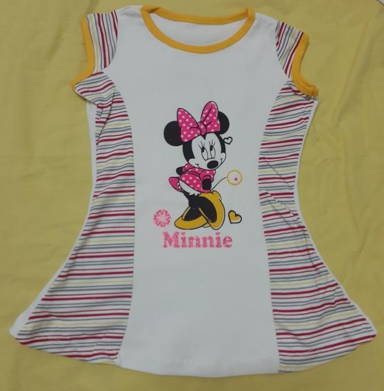 Blusas Minnie Para Niñas. Talla 6-8 Precio 3$ C/u