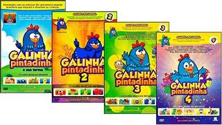 5 Dvds - Coleção Completa Galinha Pintadinha