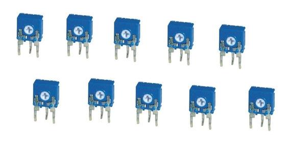 10un Trimpot Vertical 10mm 100k Azul 1407