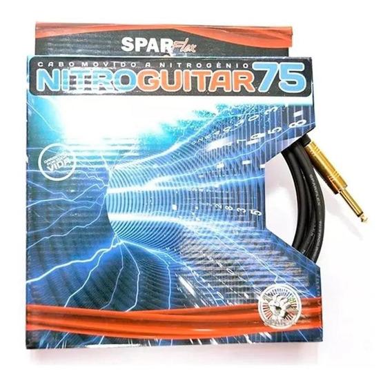 Cabo 3 Metros P10 P10 Sparflex Nitro Guitar 75 Movido Á Nitrogenio 0.75mm Profissional Guitarra Garantia Eterna