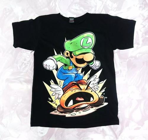 Camisetas Estampadas Niño Comics Mario Bros Luigi
