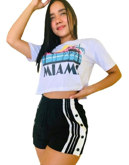 Kit 10 Shorts Feminino Cintura Alta Viscose Fenda E Botoes L