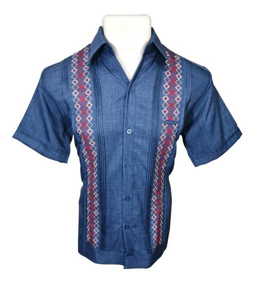 Camisa Guayabera Yucateca Manga Corta Cipre Bordado Calidad