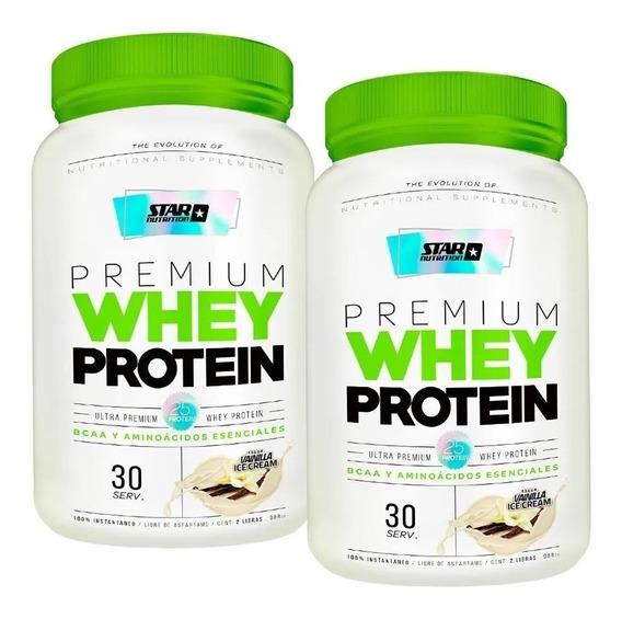 Premium Whey Protein Star Nutrition 2 Envases De 2 Lb