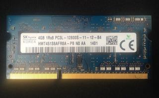 Memoria Ram Ddr3 Para Laptop 4gb Usada