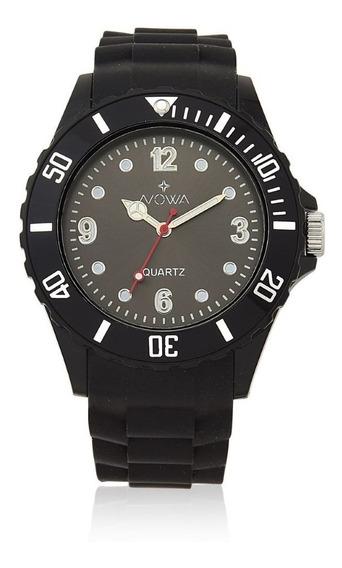 Relógio Masculino Nowa De Borracha Preto Nw0521k