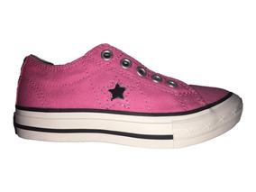 Tenis Converse One Star Rosa Con Negro