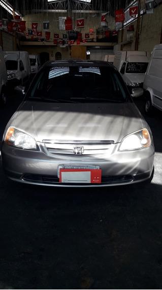 Honda Civic 1.7 Lx 16v. Mecanico Dh. Vd. 2003 Cinza