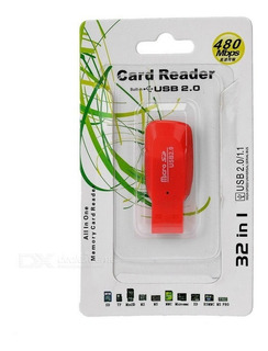Kit 10 Unid Leitor E Gravador Usb Cartão D Memória Micro Sd